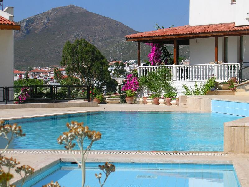 Your villa is right beside the pool!