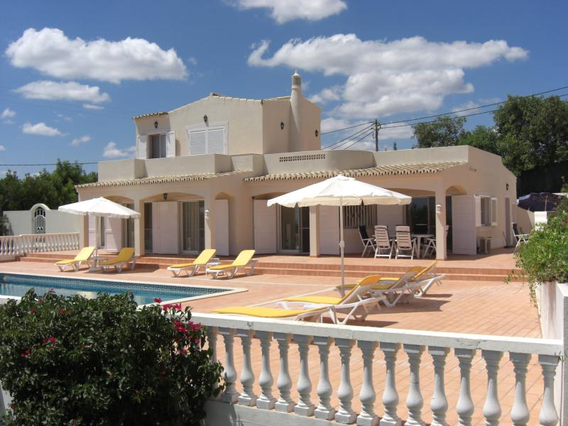 Casa Tranquila from the South, spacious Patio, Pool and Gardens