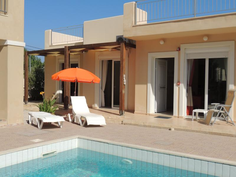 Spacious Pool Side Terrace with ample furniture