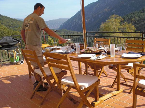 55m2 barbecue terrace overlooking the valley of the wolf - breathtaking