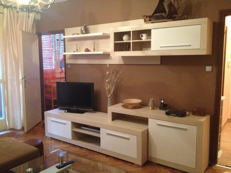 Living room with LCD TV and DVD