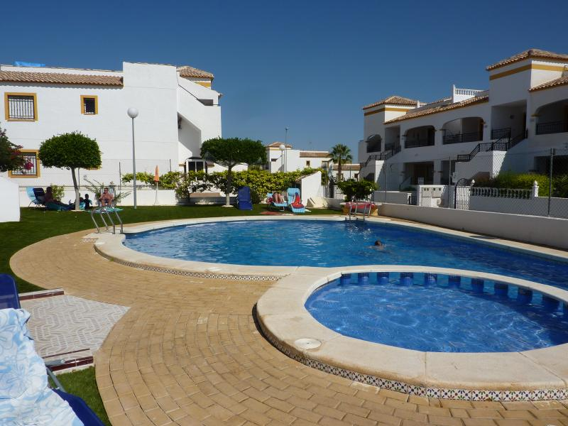 Enjoy a dip or sunbathe by  the pool, there's a shallow area for children .