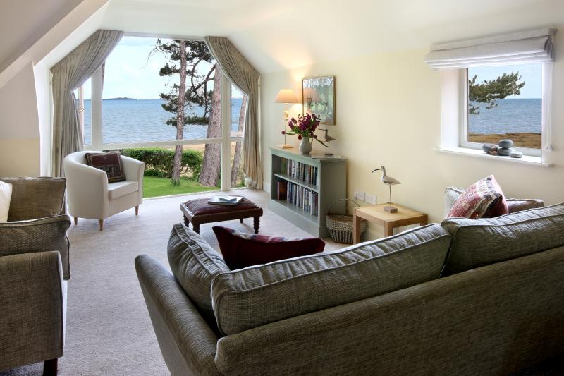 The enchanting sea views from the first floor living room.