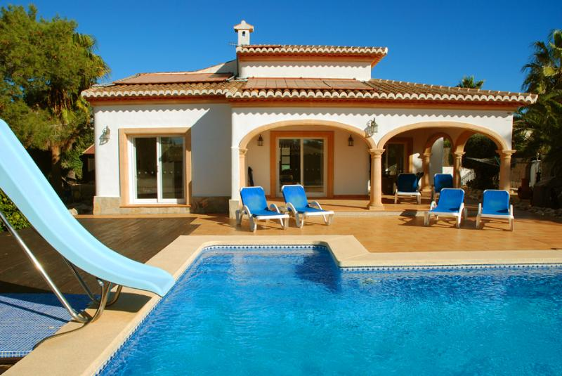 private villa, pool and gardens