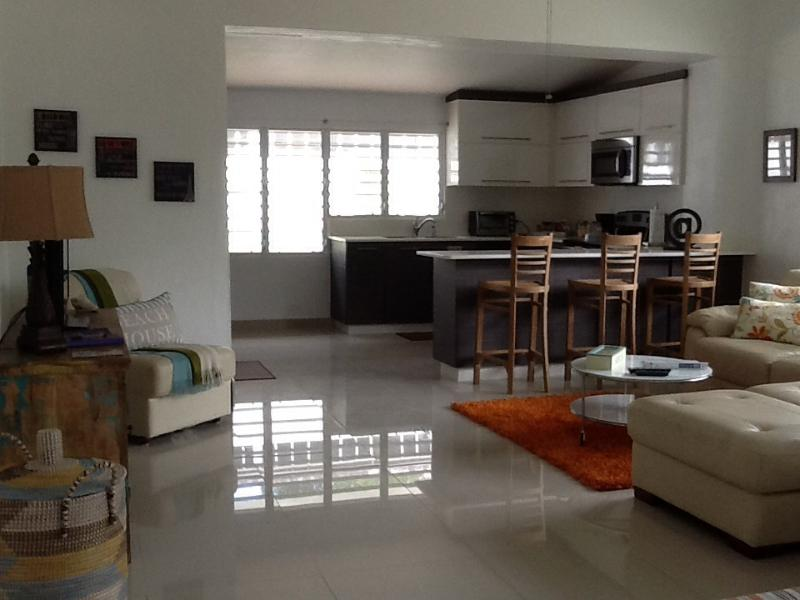 Living room & kitchen area - Nice & Simple @ the beach best value in San Juan - San Juan - rentals