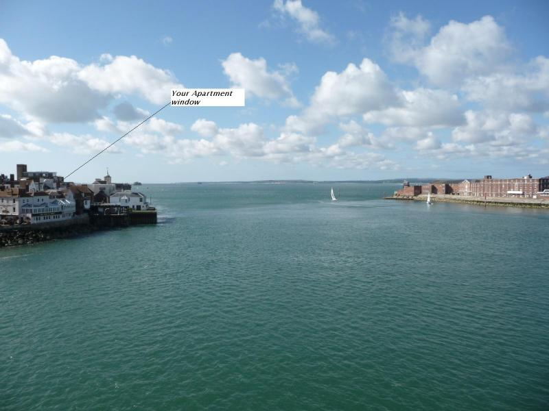 Your Apartment looks over the Mouth of Portsmouth Harbour