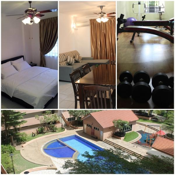 3 rooms condo with swimming pool, kids playground, gym, sauna and other facilities.