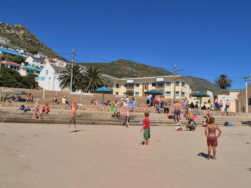 View of Apartment Block from the Beach