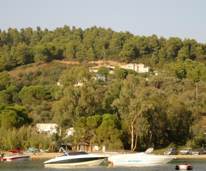 Villa on the hill from the sea