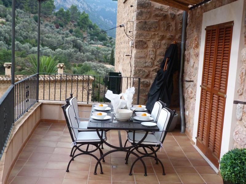 Dining on the front terrace