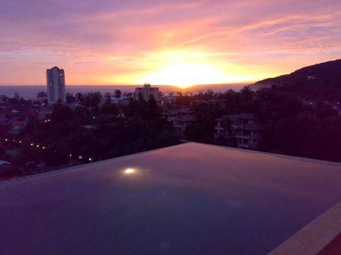 Sunset view from Rooftop pool