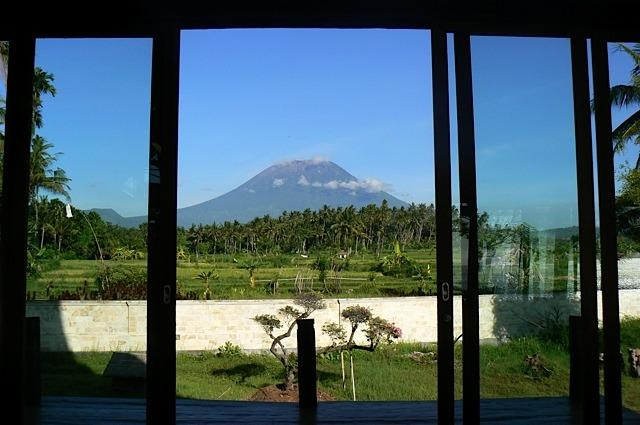 View from the bed of Mt. Agung