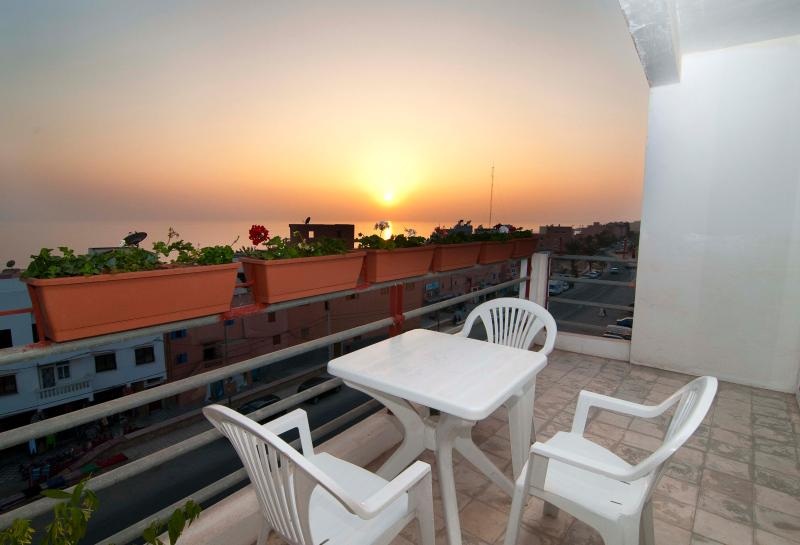 Watch the sunset from your private balcony.