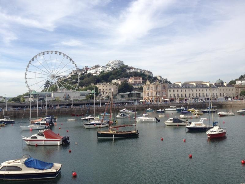 Torquay Harbour just a five minute drive from Villa Garda or a 15 minute walk