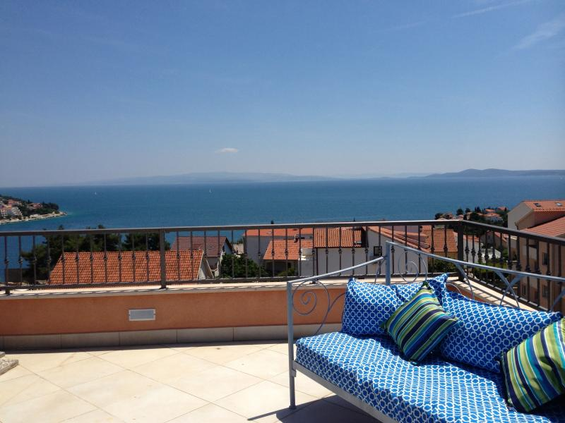 Stunning sea view from the roof terrace