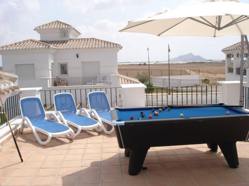 Sun Terrace with Loungers and Pool Table