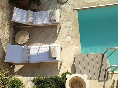 Swimmimg pool patio for two...welcome to the Hideaway!