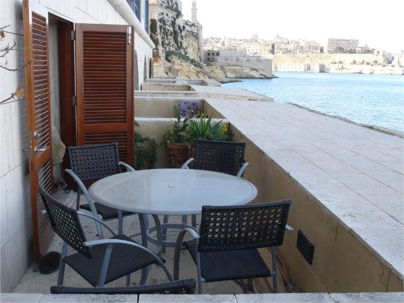 Terrace overlooking the Grand Harbour