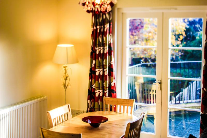 The dining area is perfect for the bringing the family together