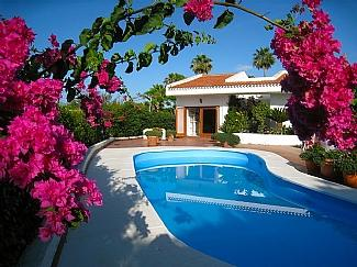 Casa Tranquilidad from across the swimming pool