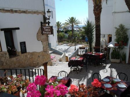 A Romantic Restaurant in Moraira's Lovely 'Old Town' - 5 minutes walk away
