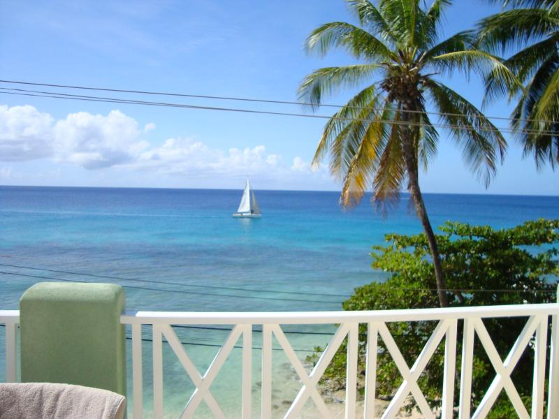 An uninterupted view of the Caribbean sea