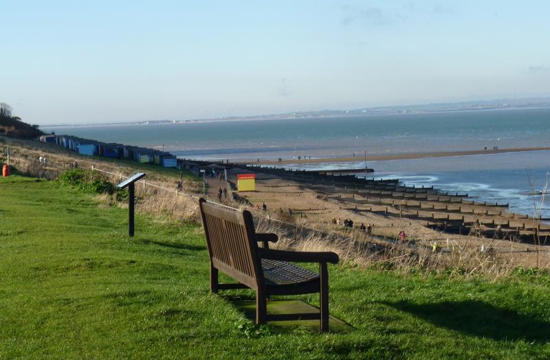 Tankerton slopes with 'The Street' a natural spit of land: a lovely walk at low tide