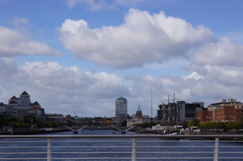 Liffey River 5 min walk from the apartment