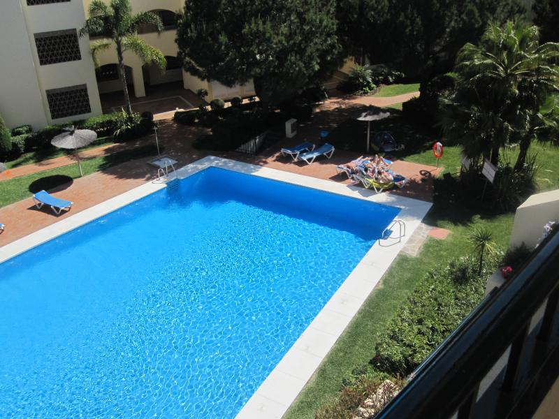 swimming pool view from apartment
