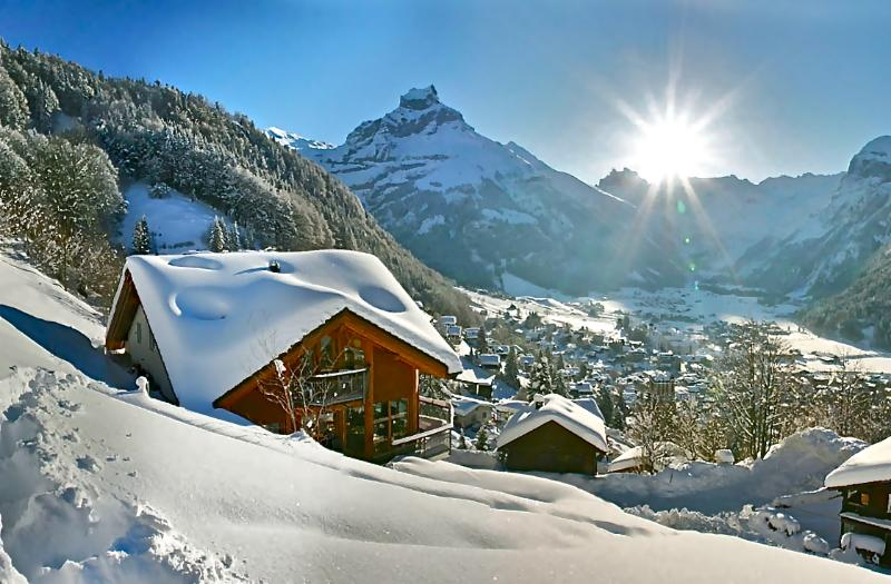 Engelberg ALPHAVEN  The house in Winter with stunning views