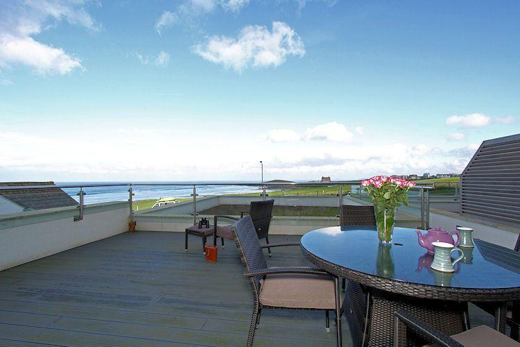 Private terrace with stunning sea views