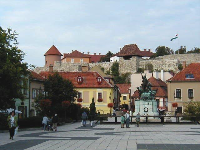 Dobo square with castle view