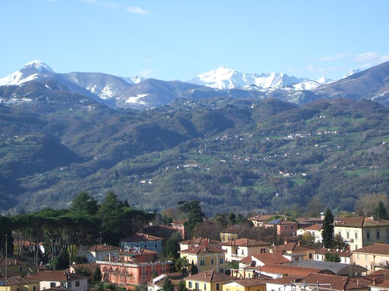 View from balcony, guest bedroom, Nel Cielo... di Barga B&B