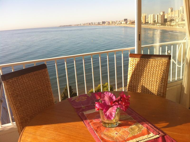 Stunning sea view as you dine