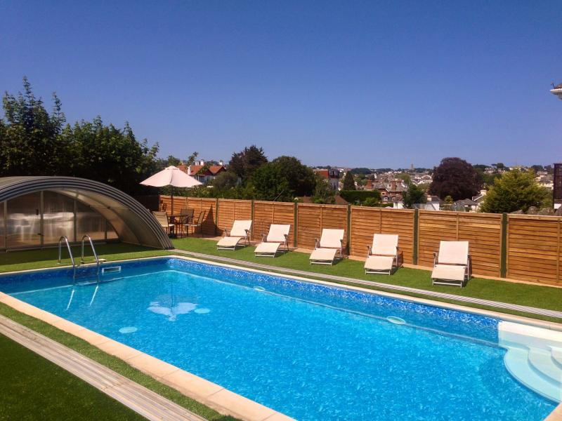 Heated pool with all weather cover available every day 9am - 9pm