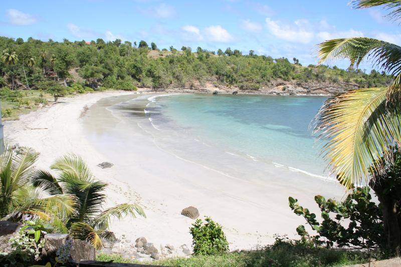 Two Bays at Cabier's stunningly beautiful & natural safe often deserted beach protected by
