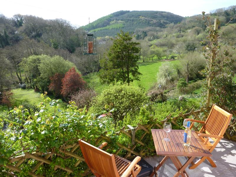View over the valley from the patio