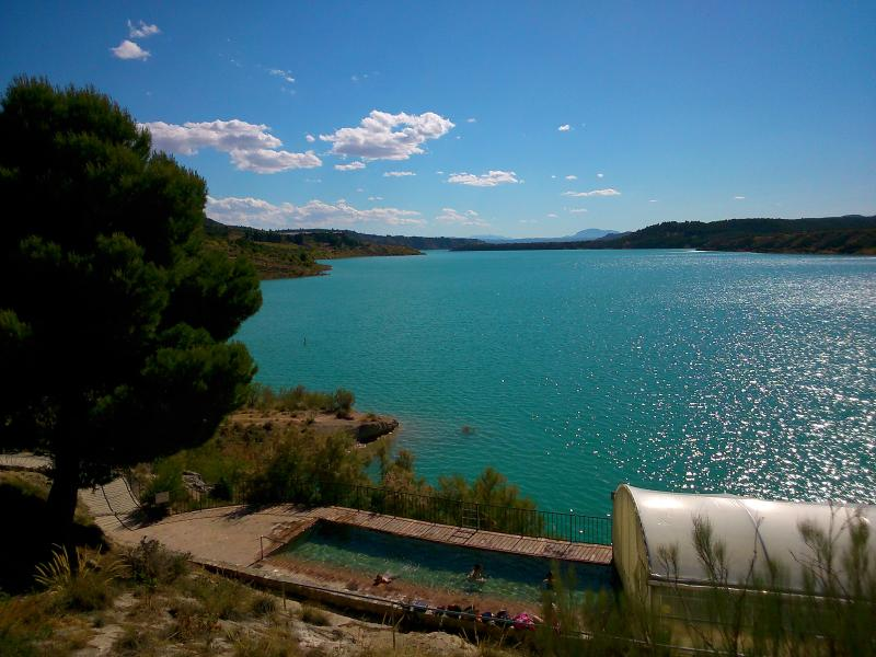 Cave close to hot spa / pool, with glorious view over the lake. 2 euros a day !