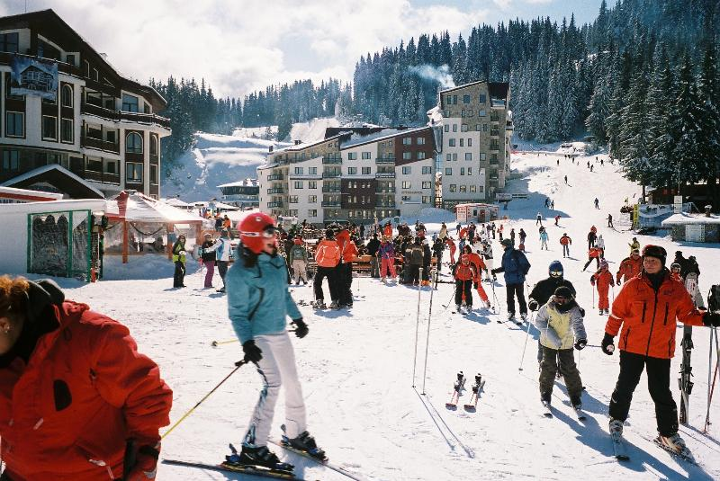 A busy day Skiing in Pamporovo; taken in February 2012. Not as busy as the other sites in Bulgaria.
