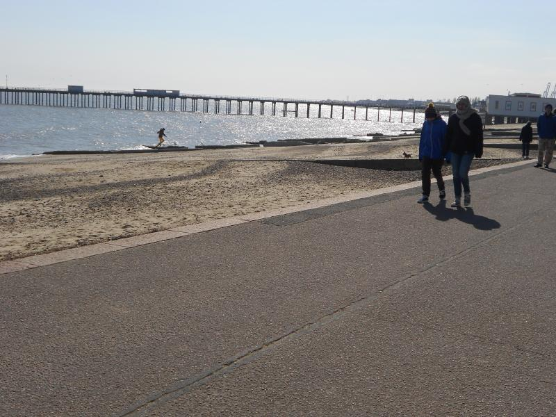 Stunning Felixstowe with beautiful beaches and miles of flat promenade for easy walking.