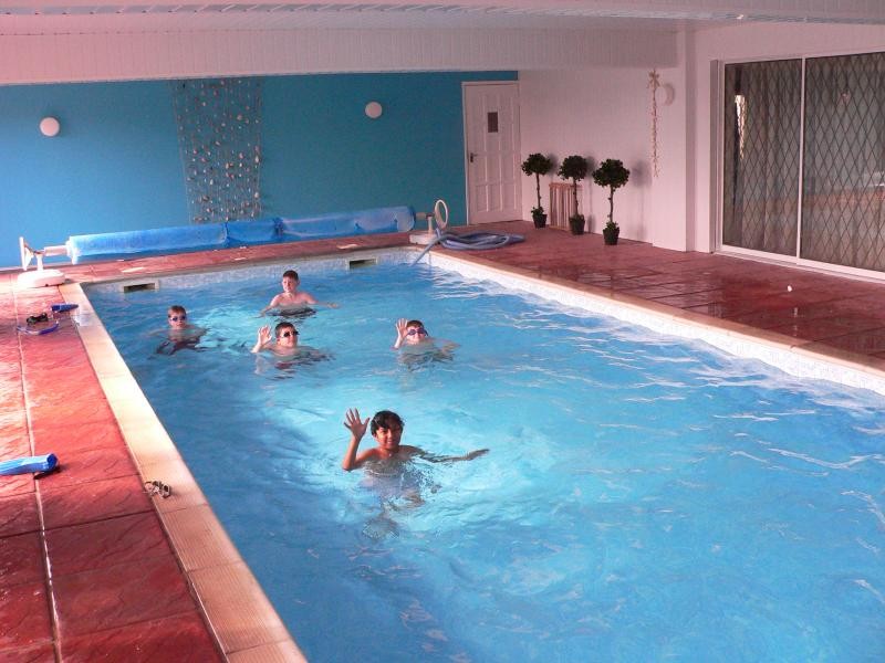 The fabulous 42' x 16' heated Indoor Swimming pool - just for you.