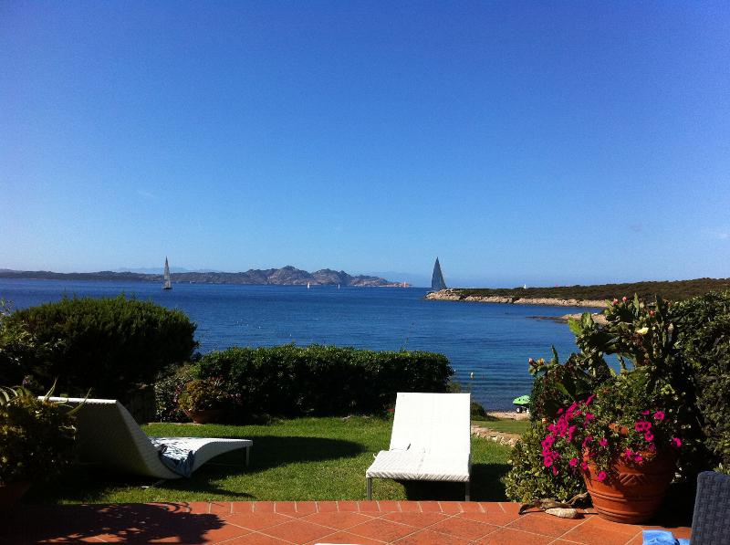 Sun terrace in private garden, just steps from the fine white sand beach