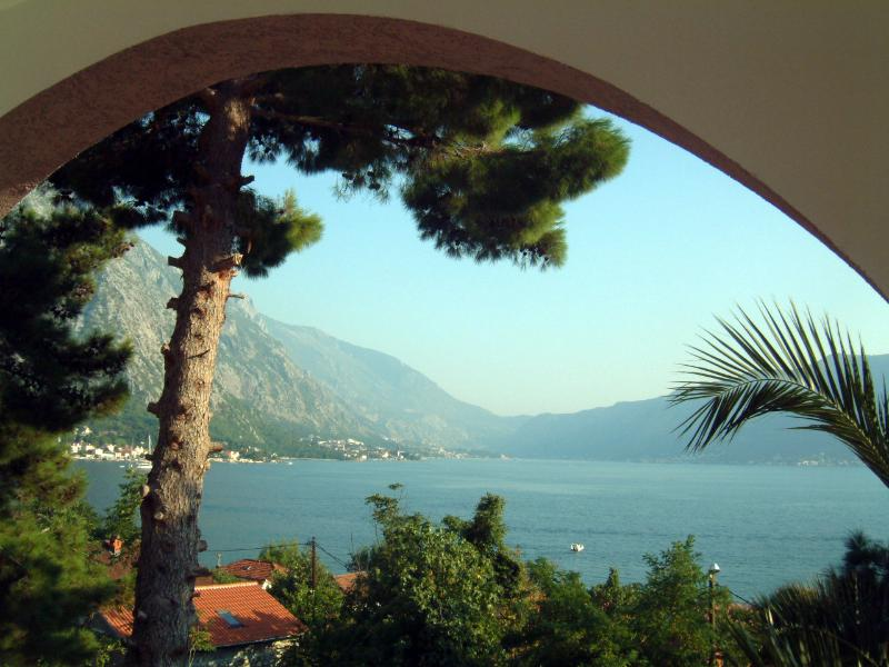 Lovely views over the Bay of Kotor from the balcony of the double bedroom