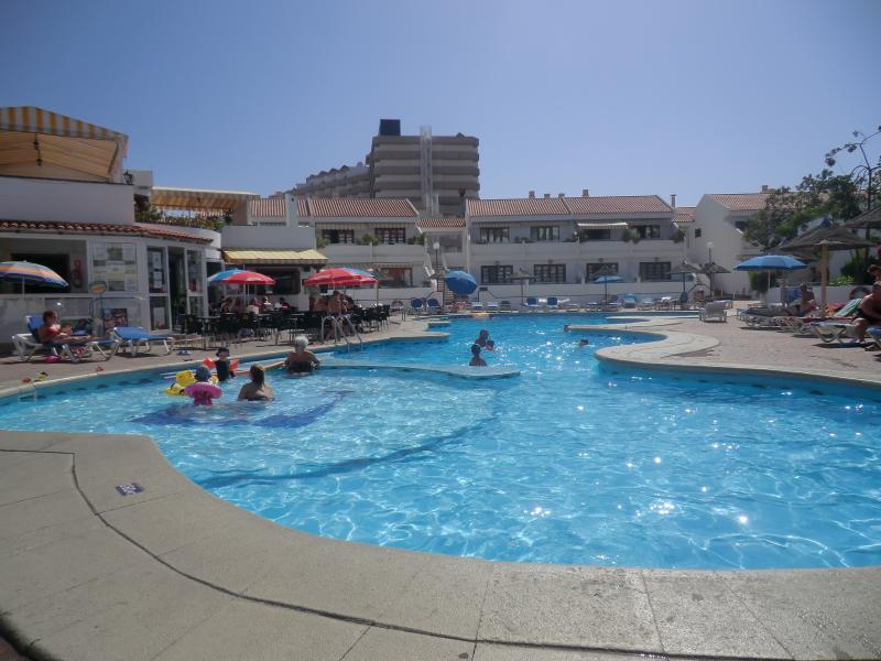 Main Pool Area with pool bar to left of picture