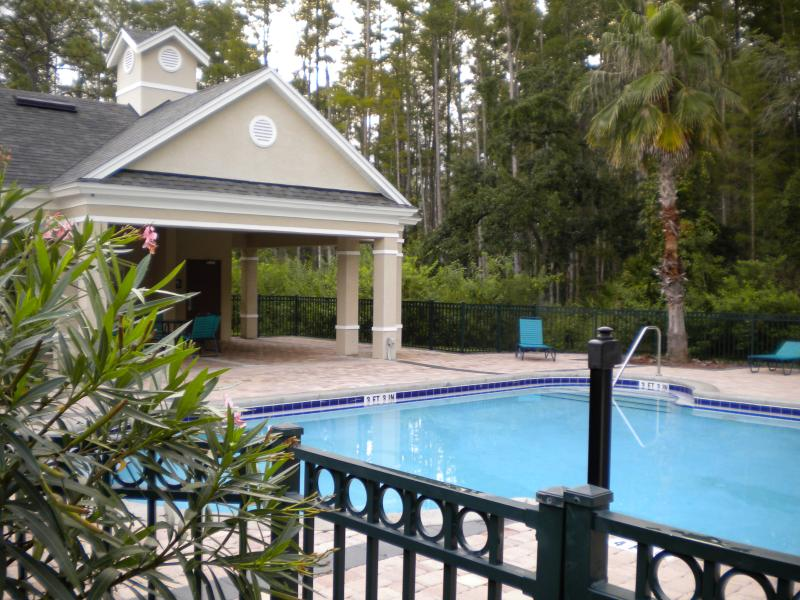 Swimming pool close to front door