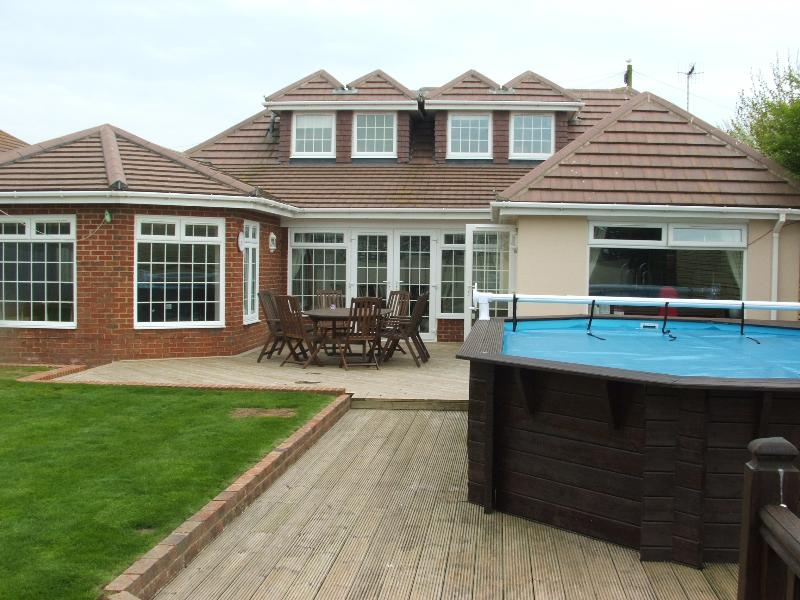 Rear garden and pool
