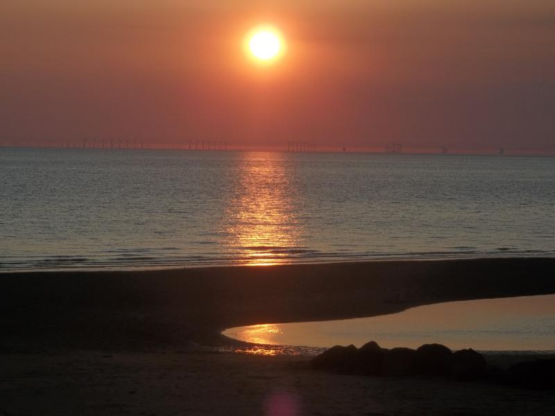 Sunset and Beach at Cleveleys