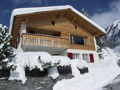 Chalet Im Wieselti - Front View, South Facing
