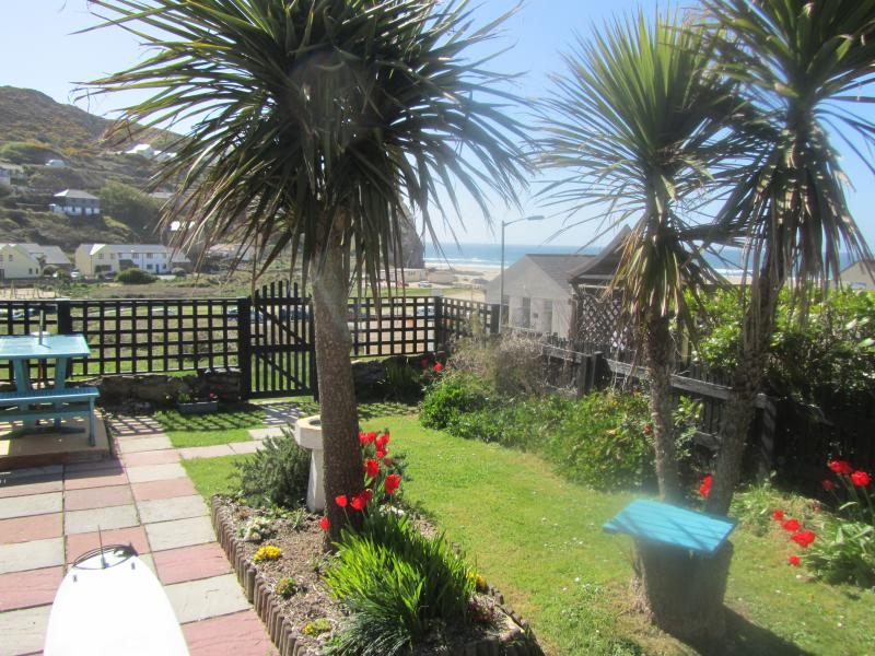 South facing garden with sea/dune views