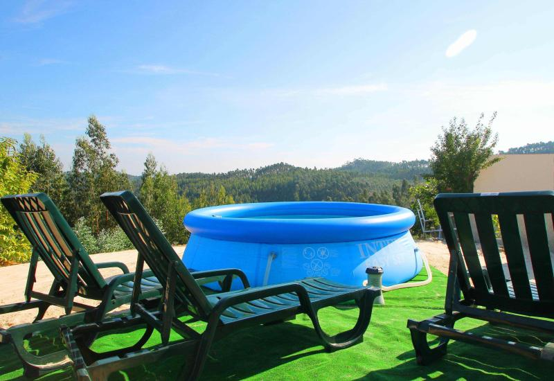 View from Garden, with small Pool and Loungers